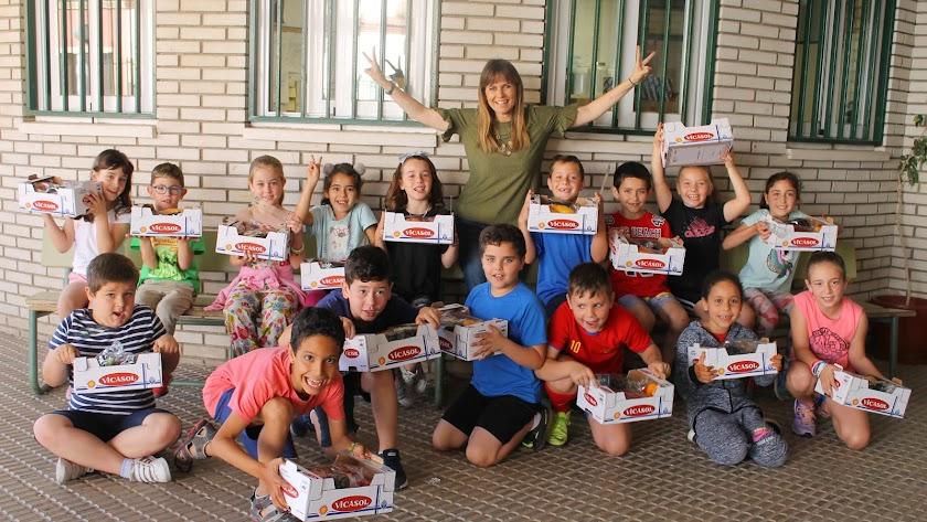 Escolares en una de las actividades de Vicasol.