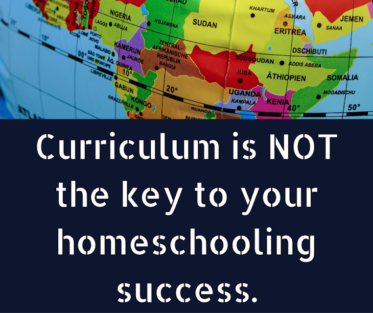 What is truly key to homeschooling because it's not curriculum.
