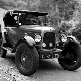 Vintage Citroen by Gary Peak - Transportation Automobiles ( car, vintage, france, citroen, mono )