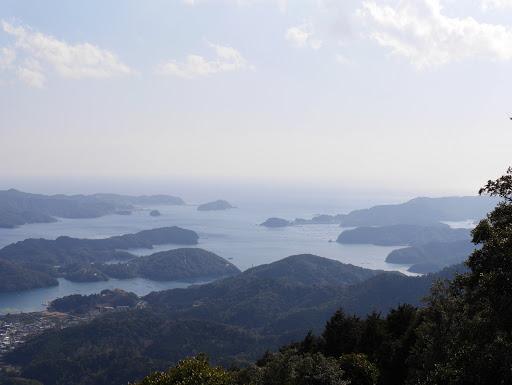 山頂からの五ヶ所湾