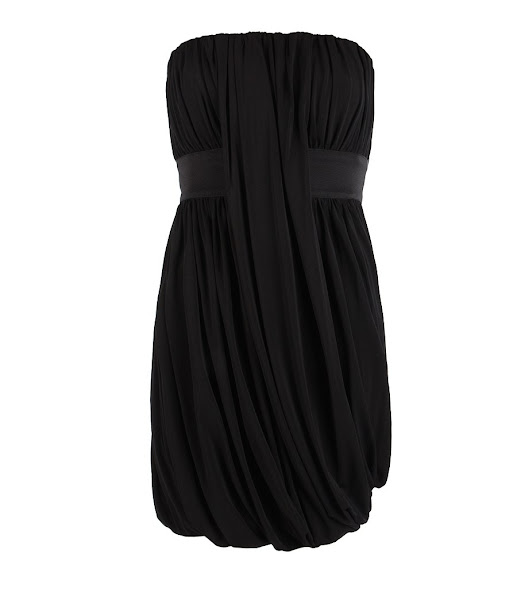 Photo: Taka Flexile Dress>>  UK>http://bit.ly/N15BPJ US>http://bit.ly/OuBpOF  Strapless dress created using gathering techniques and heavy elastic waist detailing. The Taka Fexile Dress features an under support construction in mesh fabric with soft boning to hold structure and is made from viscose jersey with a dry hand feel and heavy drape to create flattering silhouette.