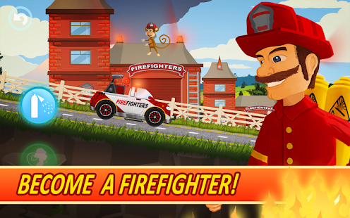 Fire Fighters Racing for Kids- screenshot thumbnail