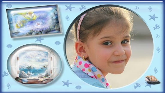 Cute fish photo frames montage screenshot