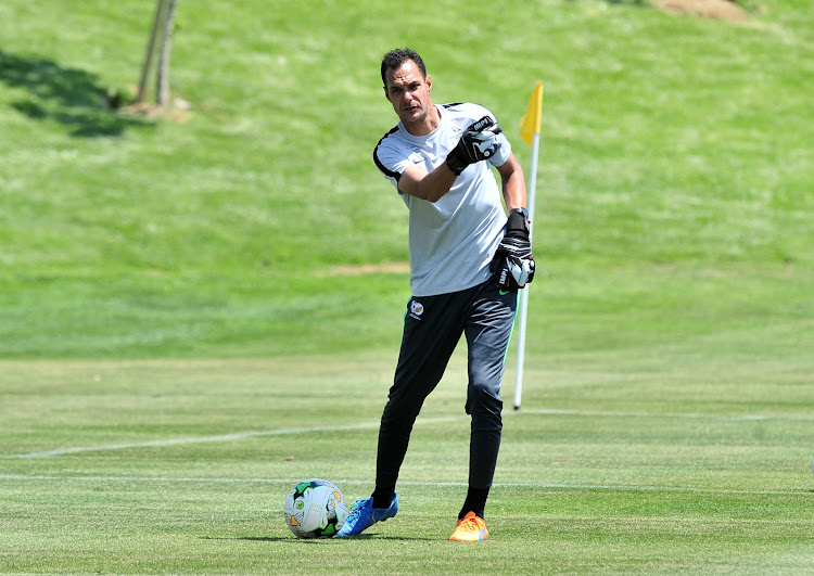Bafana Bafana goalkeeper coach Andre Arendse during a training session at Steyn City School in Johannesburg on October 9, 2018.