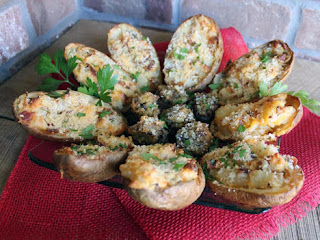 Day After Thanksgiving Stuffed Mushrooms & Potatoes Recipe