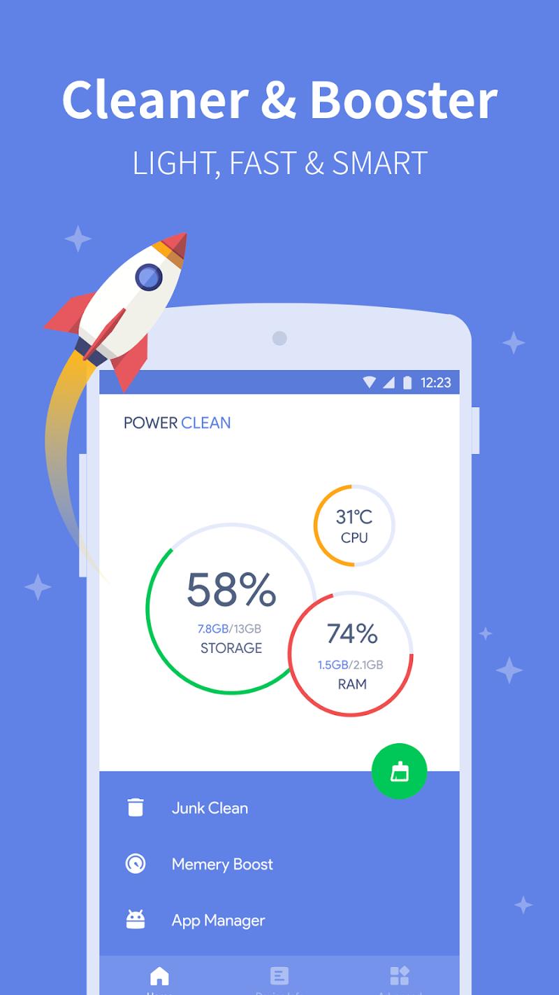 Power Clean - Antivirus & Phone Cleaner App Screenshot