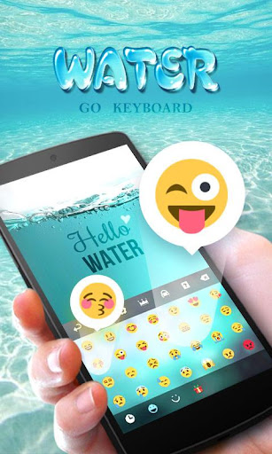 GO Keyboard Theme Water screenshot