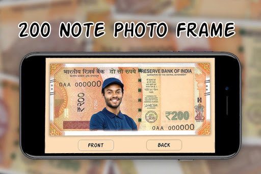 200 Note Photo Frame:New Currency NOTE Photo Frame screenshot 1