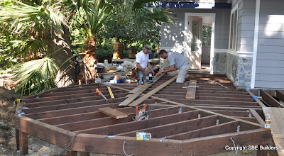Photo: Deck electrical lighting almost complete.