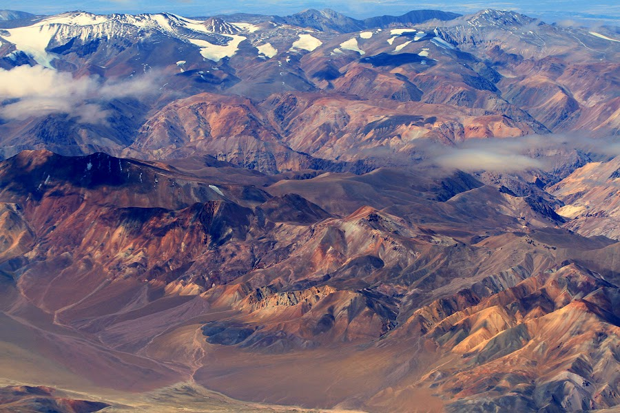 Aerial photo of a portion of The Andes mountain range  II by Itamar Campos - Landscapes Mountains & Hills ( chile, atacama, mountains, desert, snow )