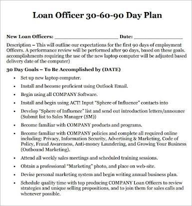 Loan Officer Business Plan Template Free