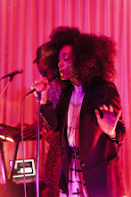 Photo: Singer Solange Knowles works the stage at the Topshop party at Cecconi's.  Shop LA Style > http://bit.ly/XbGtM6