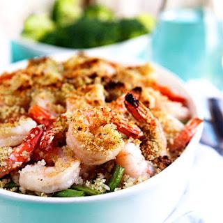 Easy Shrimp Scampi Bake