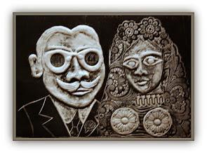 Photo: Antonio Berni Le pére e la mére de Ramona (o Los padres de Ramona) 1965. Xilo-collage-relieve. Matriz xilográfica: 23 x 32,5 cm. Estampa: 28 x 38 cm. Colección particular, Buenos Aires. Expo: Antonio Berni. Juanito y Ramona (MALBA 2014-2015)
