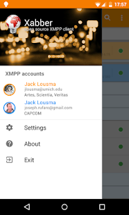 Xabber Beta - náhled