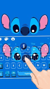 Blue Cartoon Keyboard Theme - náhled