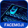 3D Hologram Neon Emoji Keyboard Theme APK