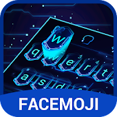 3D Hologram Neon Emoji Keyboard Theme