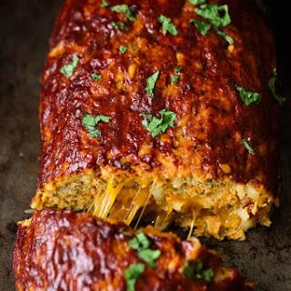 Cheddar-Stuffed Sweet Potato BBQ Turkey Meatloaf.