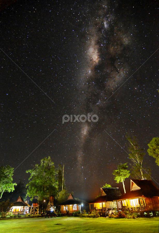 Milky Way Villa by Salahudin Damar Jaya - Landscapes Starscapes ( star, bima sakti, boscha, nightscape, milky way )