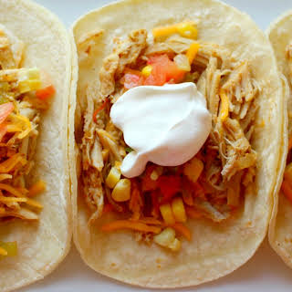 Crock Pot Chicken Ranch Tacos.