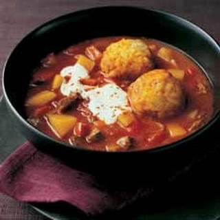 Goulash Soup with Dumplings
