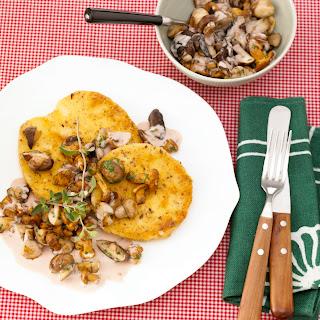 Sellerieschnitzel mit Pilzragout