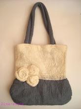 Photo: валяная войлочная сумка с розами