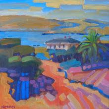 "Photo: ""Commandant's View, Benicia"", oil on wood panel 8"" x 8"", © Nancy Roberts"