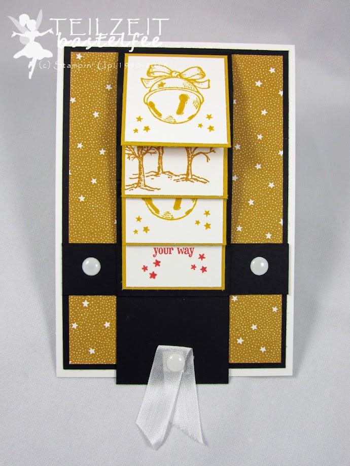 Stampin' Up! – In{k}spire_me 275, Color Challenge, Christmas, Weihnachten, Christmas Magic, Designerpapier Es weihnachtet sehr, DSP Presents and Pinecones, Waterfall Card, Wasserfallkarte, Akzente Brilliantweiß, White Perfect Accents