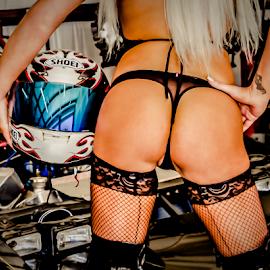 Let's Ride by Matthew Chambers - Nudes & Boudoir Boudoir ( ass, boudoir, fit, lingerie, racing, stocking, garter, sexy, helmet, boots, blonde, butt )