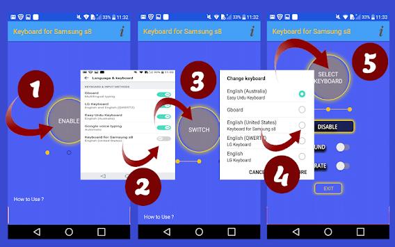 Download Keyboard for Samsung S8 APK latest version app for