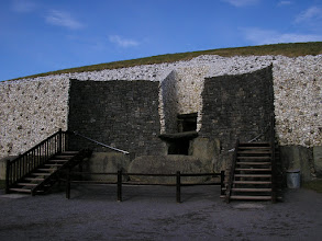 Photo: Entrance to Newgrange passage tomb