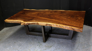 Photo: http://dorsetcustomfurniture.blogspot.com/2014/03/a-live-edge-coffee-table.html