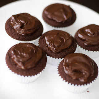 Dorie Greenspan's Double Chocolate Cupcakes.
