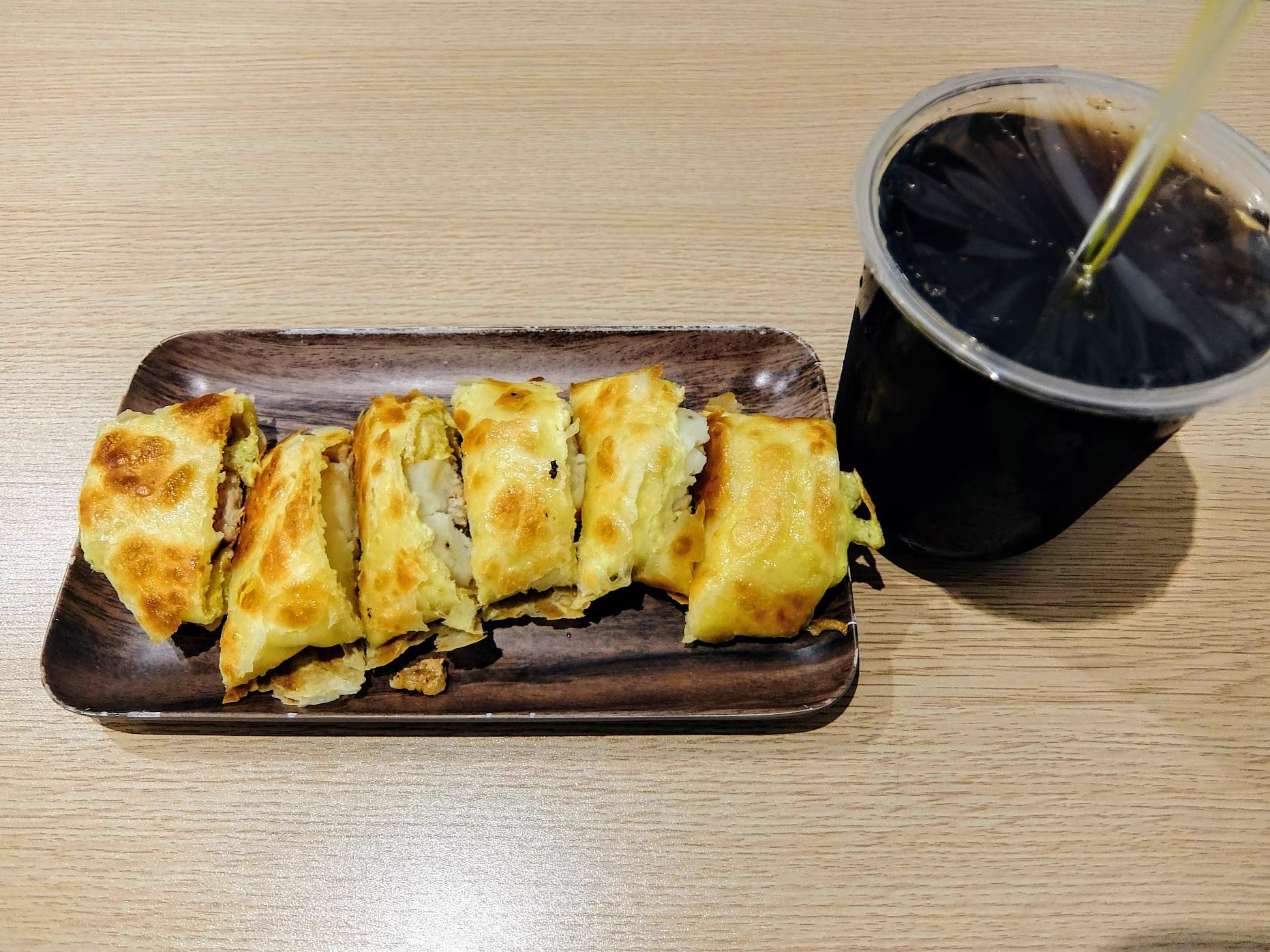 薯泥燒肉蛋餅! 搭上一杯溫紅茶,一天的早餐!