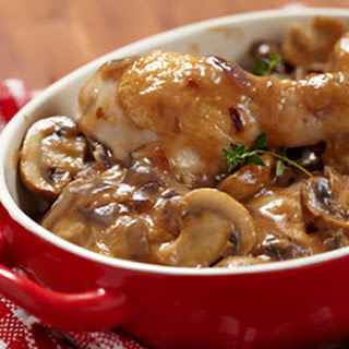 Baked Chicken and Mushrooms.
