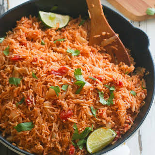 Oven Baked Mexican Rice.