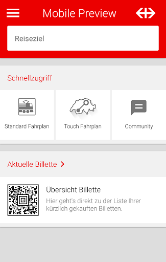 SBB Mobile Preview
