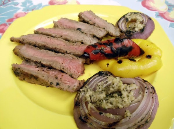 Season steaks with salt, as desired. Remove bone and carve steaks crosswise into thick...