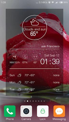 Transparent weather forecast