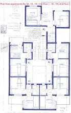 Photo: Κατόψεις των διαμερισμάτων 12 , 13 , 15 (1ος όροφος ) ,16 , 19 ( 2ος όροφος )- Plan from apartments No 12 , 13 , 15 ( 1st floor ) , 16 , 19 (2cd floor )