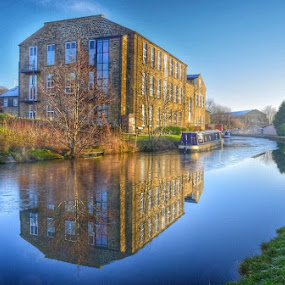 by Betty Taylor - Buildings & Architecture Other Exteriors ( leeds liverpool canal )