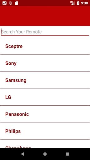 Sceptre TV Remote Control by Remote Control For All TV