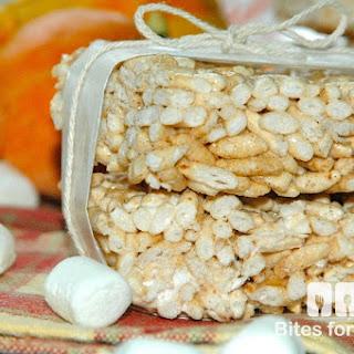 Pumpkin Marshmallow Puffed Rice Bars
