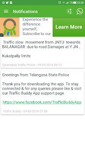 Traffic Buddy : Hyd-Cyberabad- screenshot thumbnail