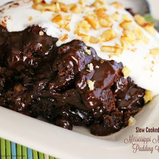 Slow Cooked Mississippi Mud Pudding Cake.