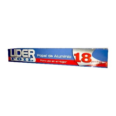 papel aluminio lider foil 18mtsx30cm