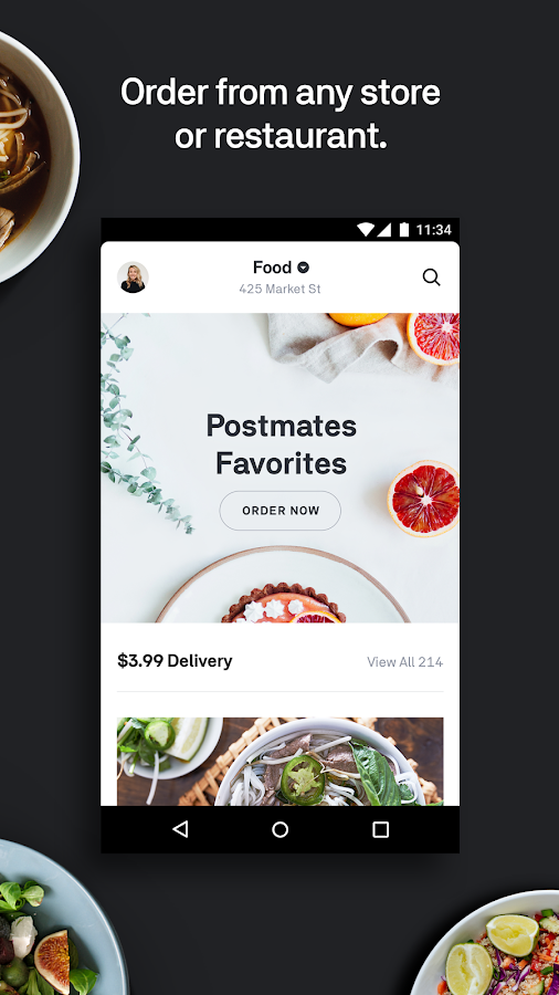 Postmates Food Delivery Order Eats Amp Alcohol Android