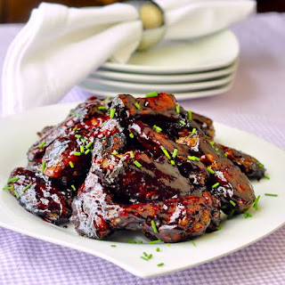Honey Blueberry Barbeque Wings.